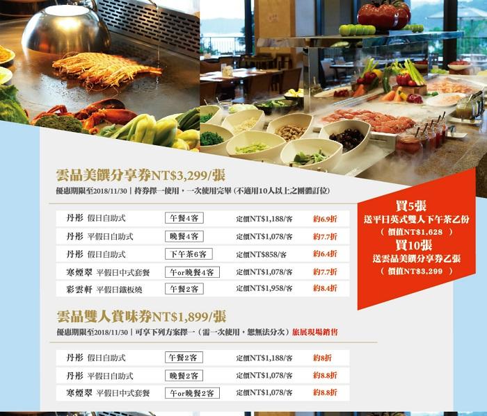 高雄-台中-聯合旅展-雲品餐券