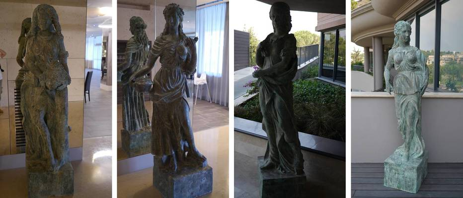 A.Roma four season goddesses sculptures