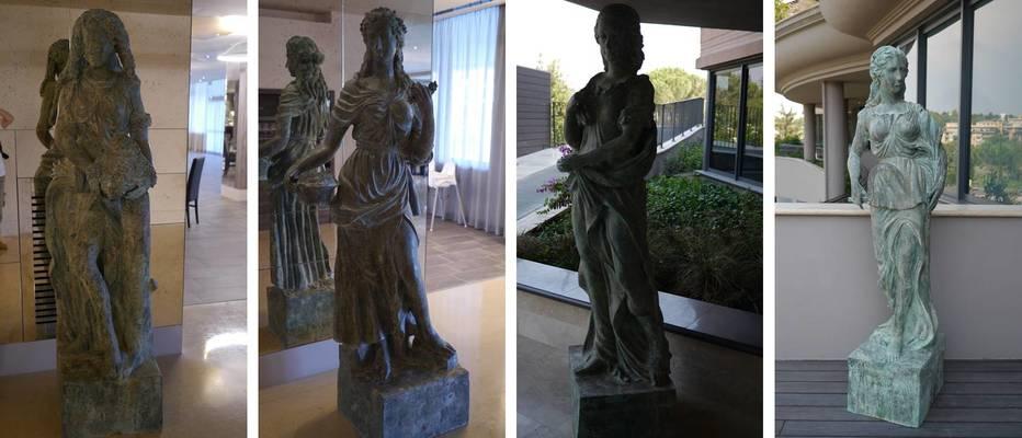A.Roma four season goddesses sculptures