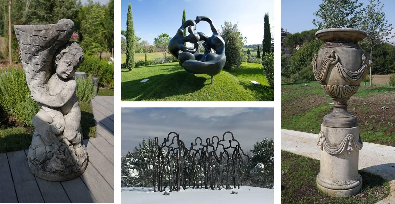 A.roma artworks of garden path