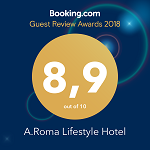 Booking.com Guest review award A.Roma 2018