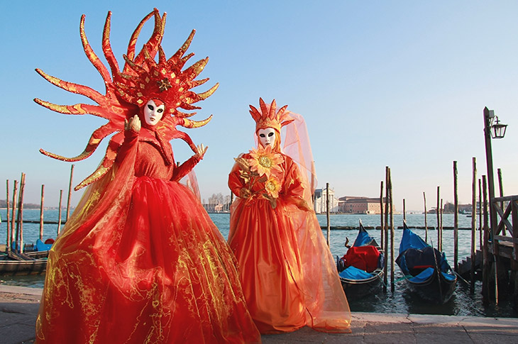 Organge Venice Carnival Costumes - The Carnival of Venice Is The Best Time To Visit Venice