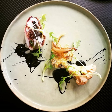 Smoked-Squid-with-Ink-Sauce