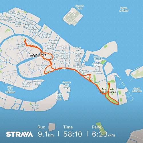 Venice-running-route